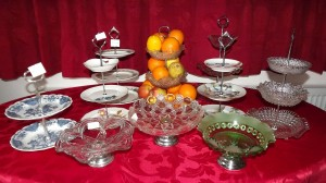 A selection of the Cake Plate Stands that we offer for sale.