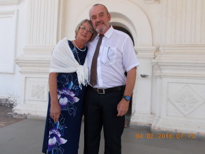 Jacky & I outside Varca Church in India